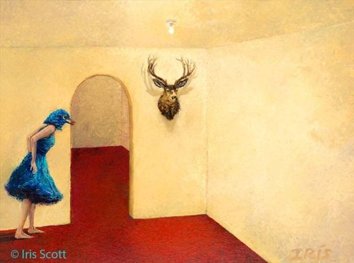 pintura por Iris Scott