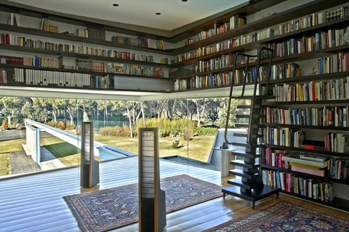 bibliotecas, casas