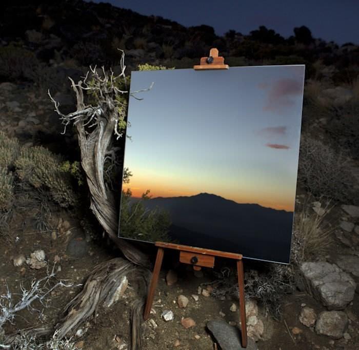 arte, espelhos