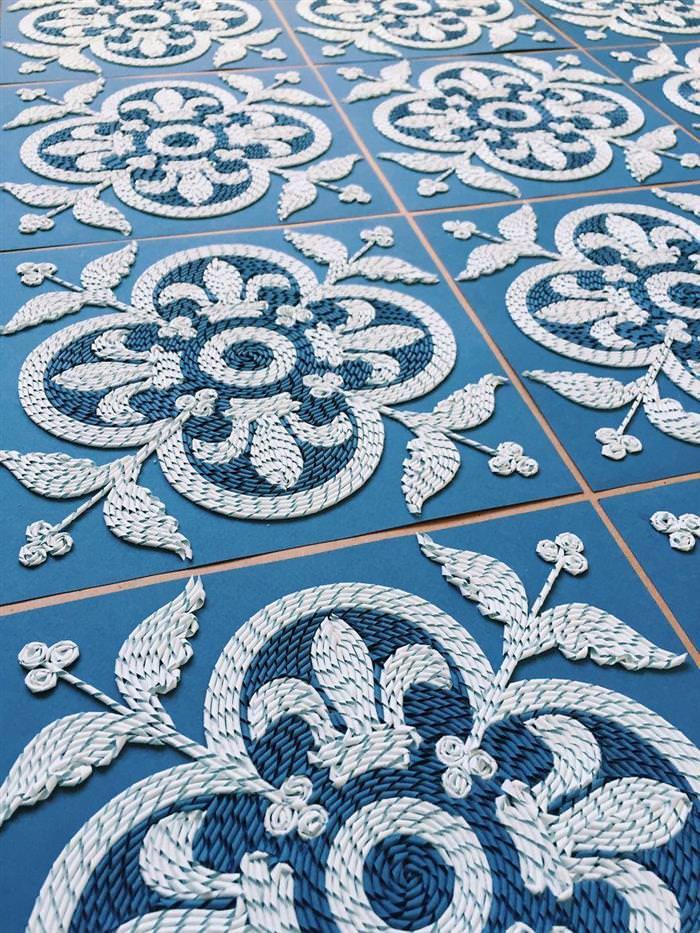 mosaicos de papel