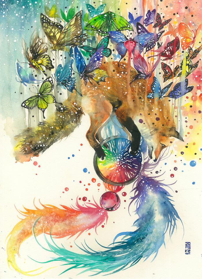 A Aquarela Expressiva de Luqman Reza