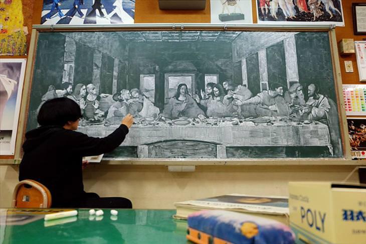 A arte de Hirotaka Hamasaki que desenha em quadros