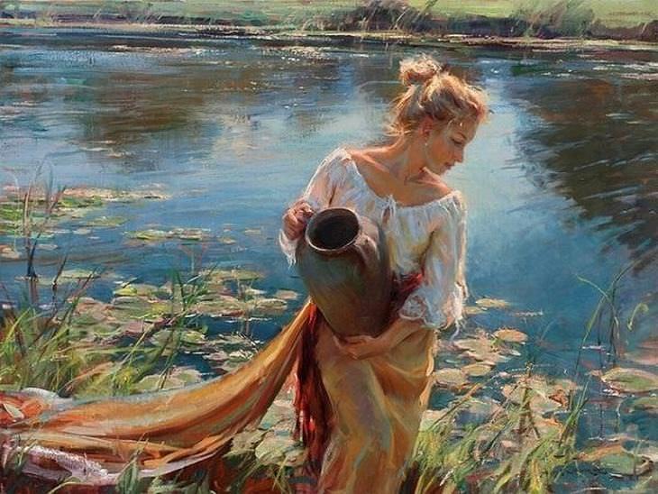 A Arte Romântica de Um Pintor Contemporâneo