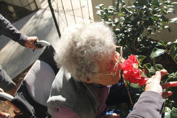 Velhinha com câncer dá lição de vida