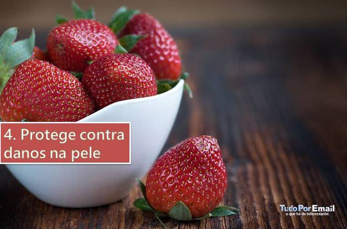 benefícios do morango para a saúde