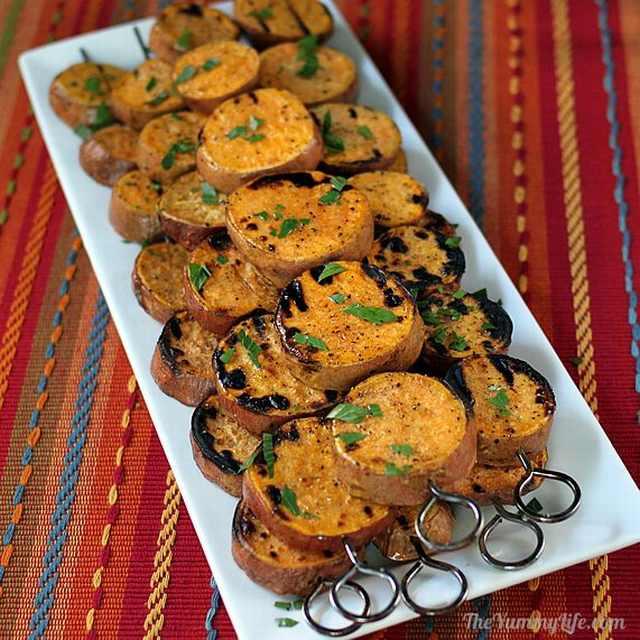 churrasco de batata-doce
