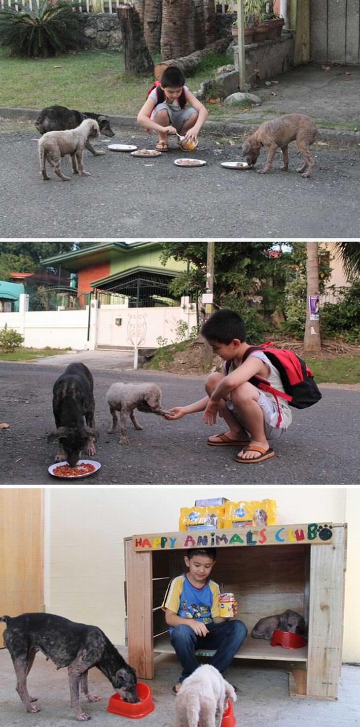 Criaças que fazem o bem para os outros.