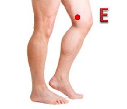 Pontos de acupuntura para dor no joelho