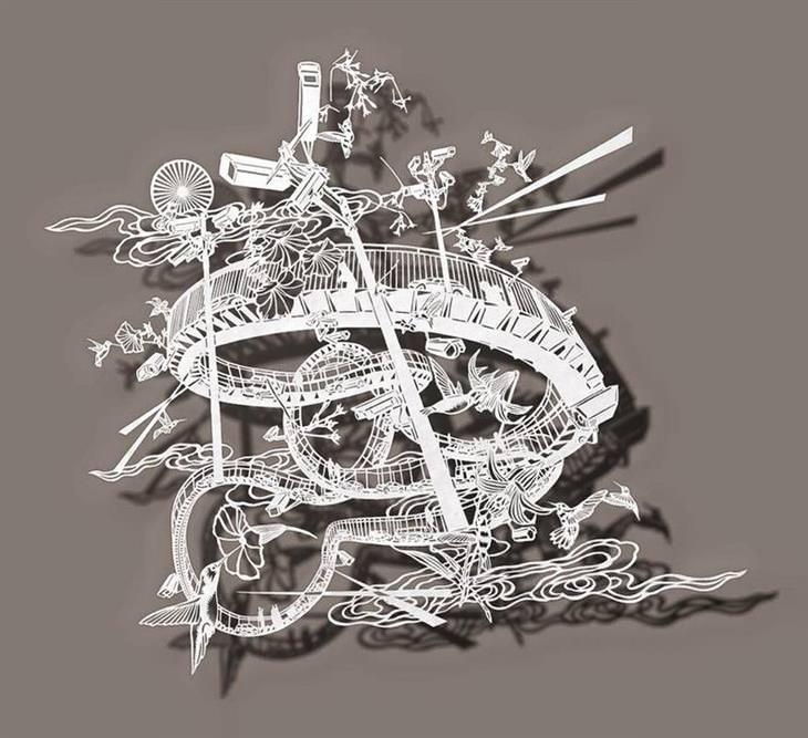 arte em papel de arroz
