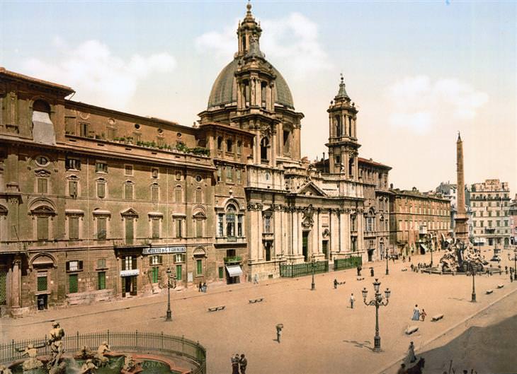 cartões-postais antigos roma itália