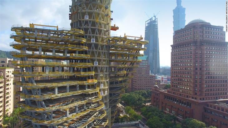 o arranha-céu tao zhu yin yuan ecologia taiwan
