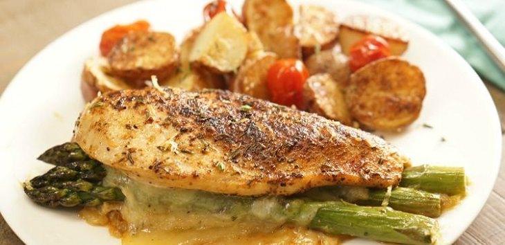receita de frango recheado com aspargos