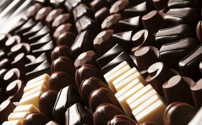 diferentes tipos de chocolate