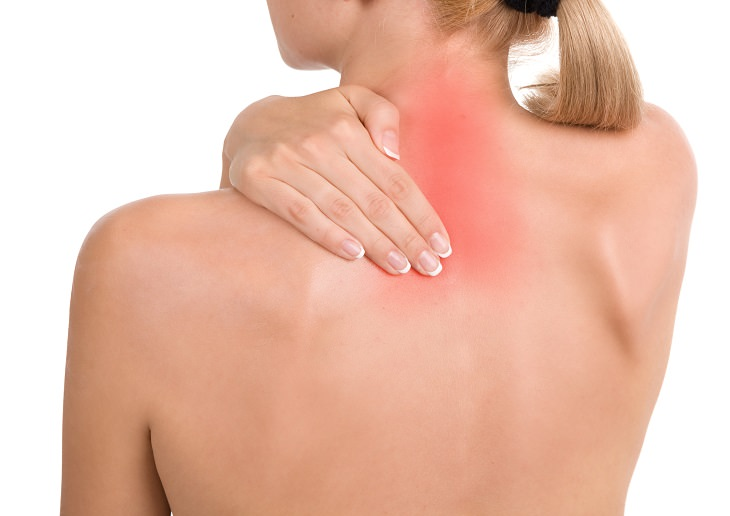 A massagem de um minuto no pescoço