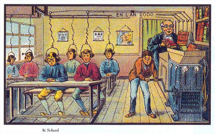 Cartões postais da previsão do futuro do século XIX
