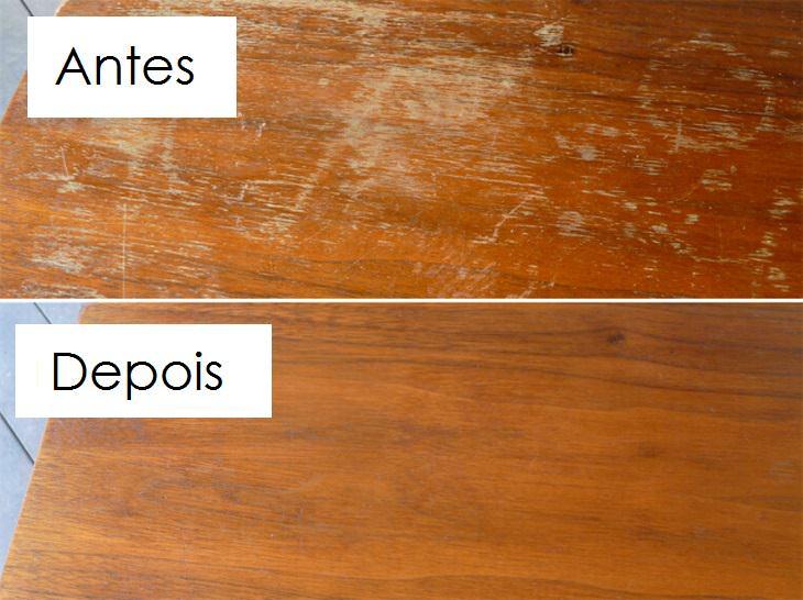 recupere móveis de madeira com 2 ingredientes