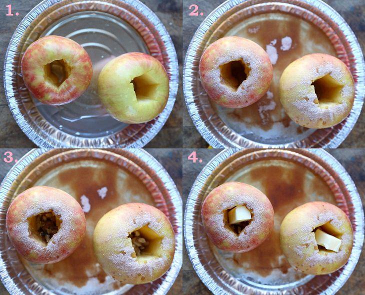receita com maçã