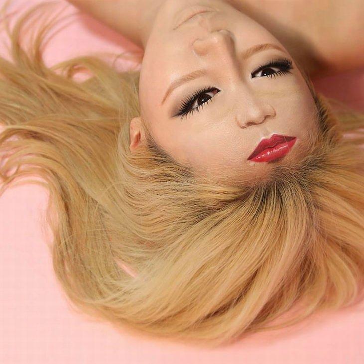 maquiagem ilusão de ótica