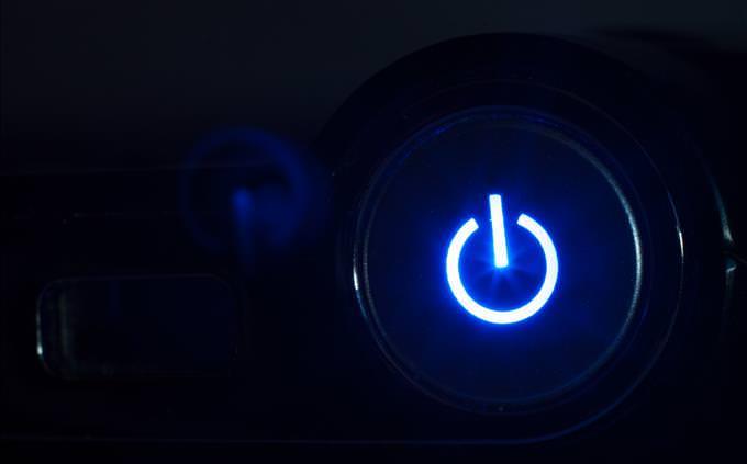illuminated power button on PC