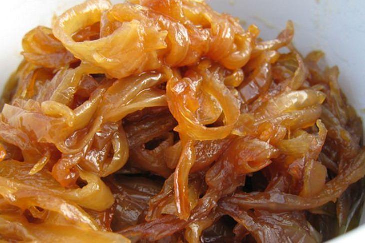 receita fácil de cebola caramelizada