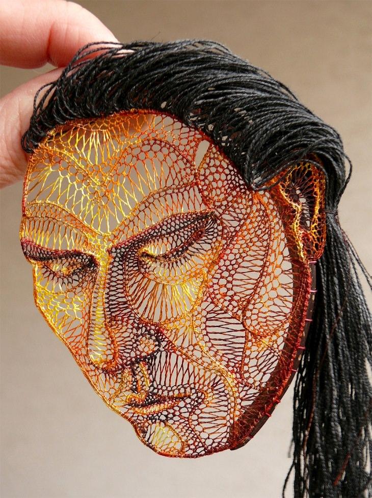 o trabalho em crochê da artista húngara Agnes Herczeg