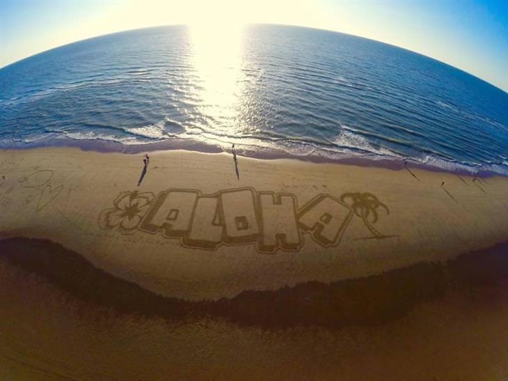 arte na areia