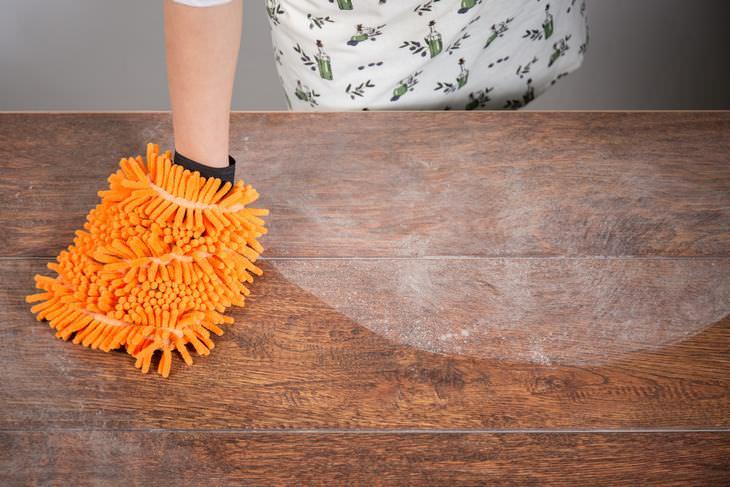 limpar itens de cozinha