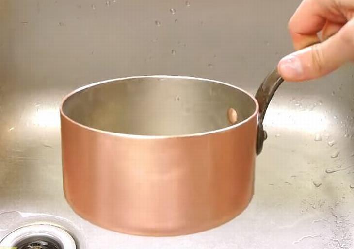 como limpar panela de cobre