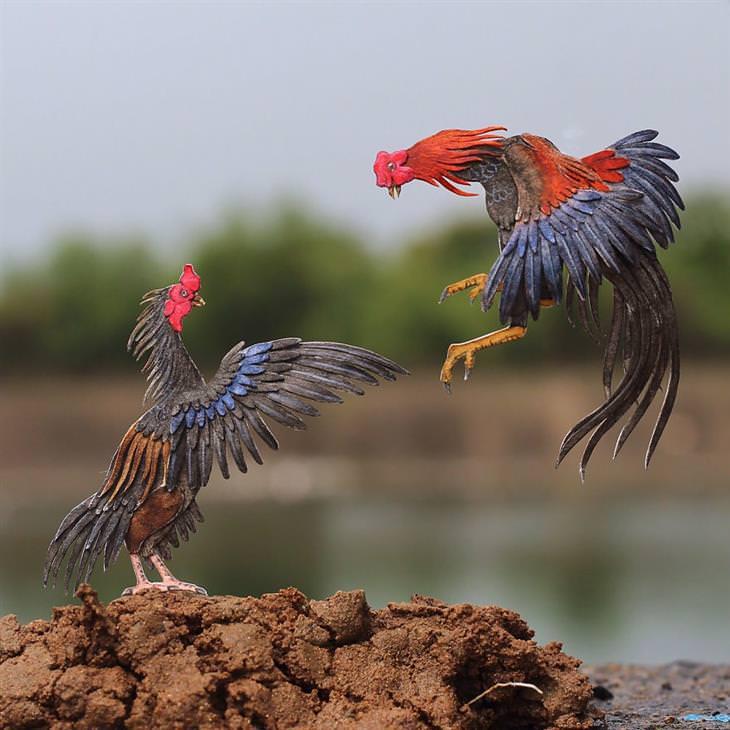 pássaros de papel