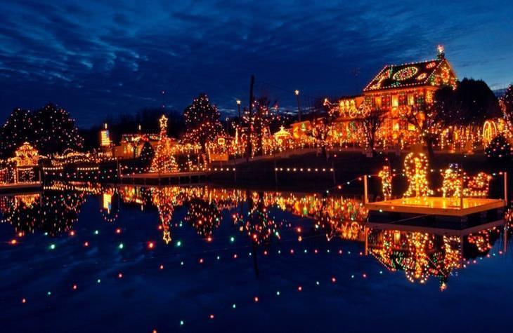 cidades mágicas no Natal dos EUA