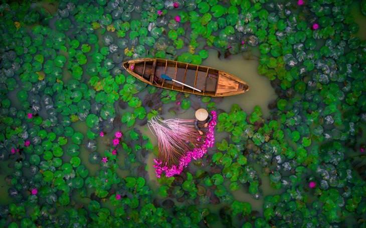 as melhores fotos do ano do concurso do dronestagram