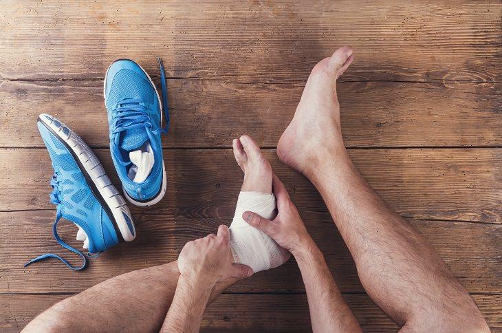 primeiros socorros para o tornozelo
