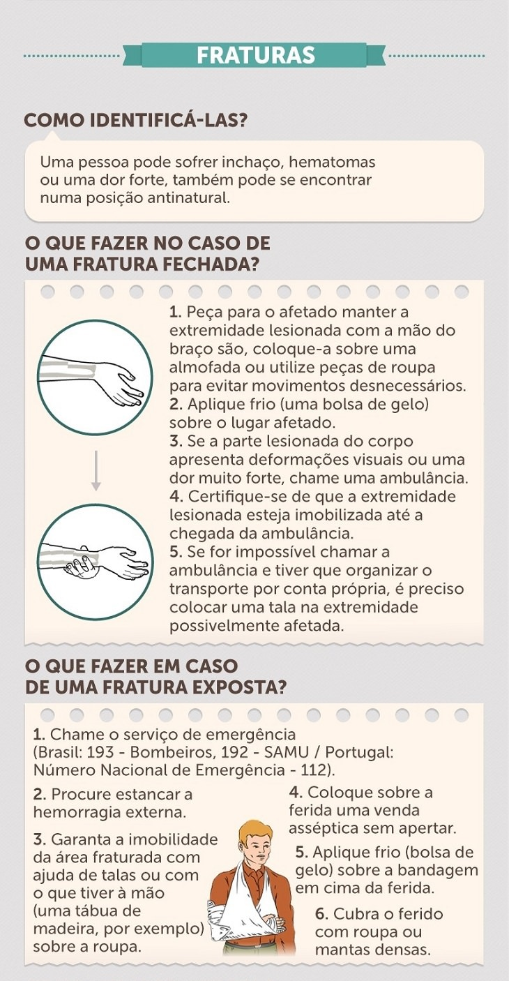 infográfico completo de primeiros socorros