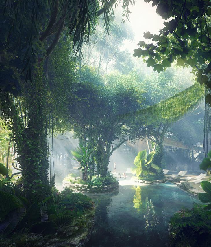 hotel bilionário em dubai tem floresta tropical artificial