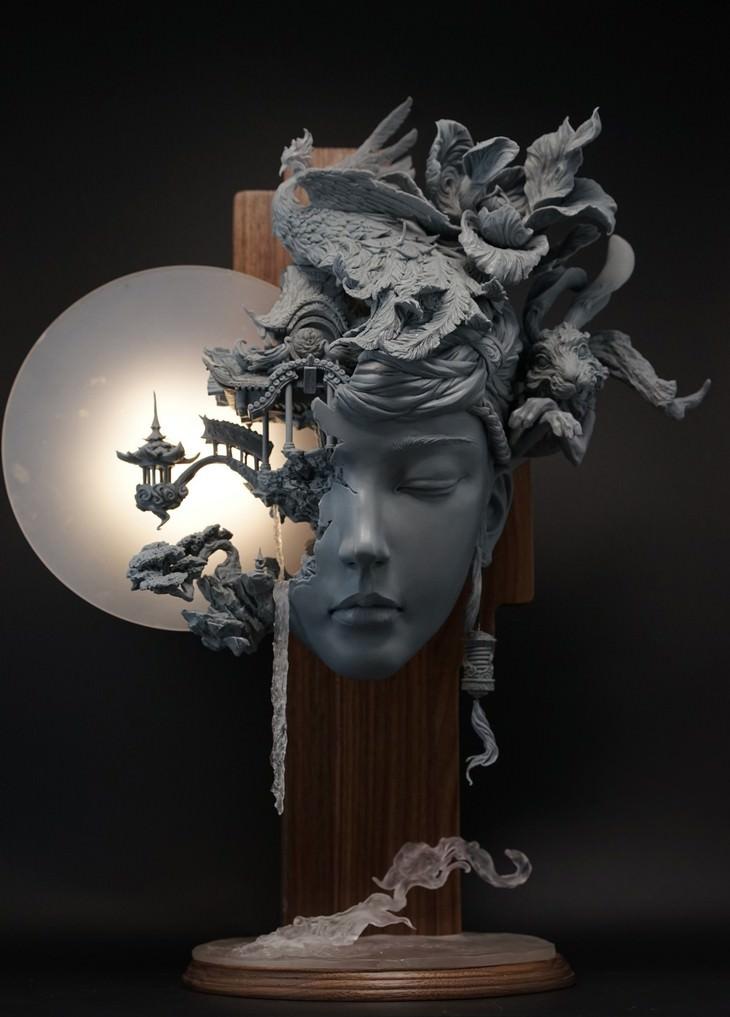 esculturas detalhadas