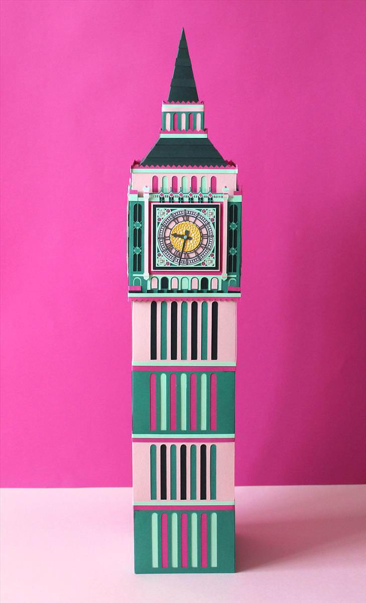esculturas de papel de Londres