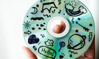 Um CD com desenhos