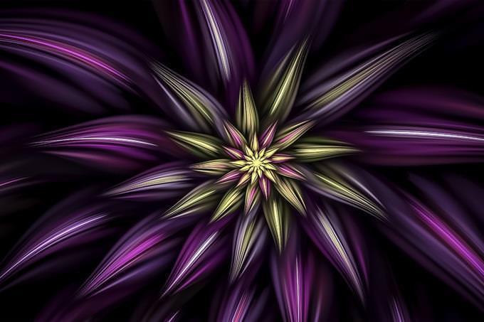 Desenho abstrato de uma flor