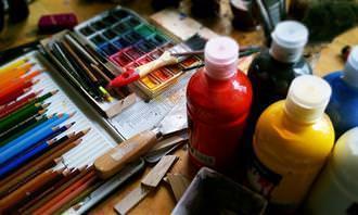 equipamento de arte
