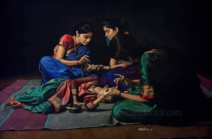 A grande arte de Shrikant Dhatre