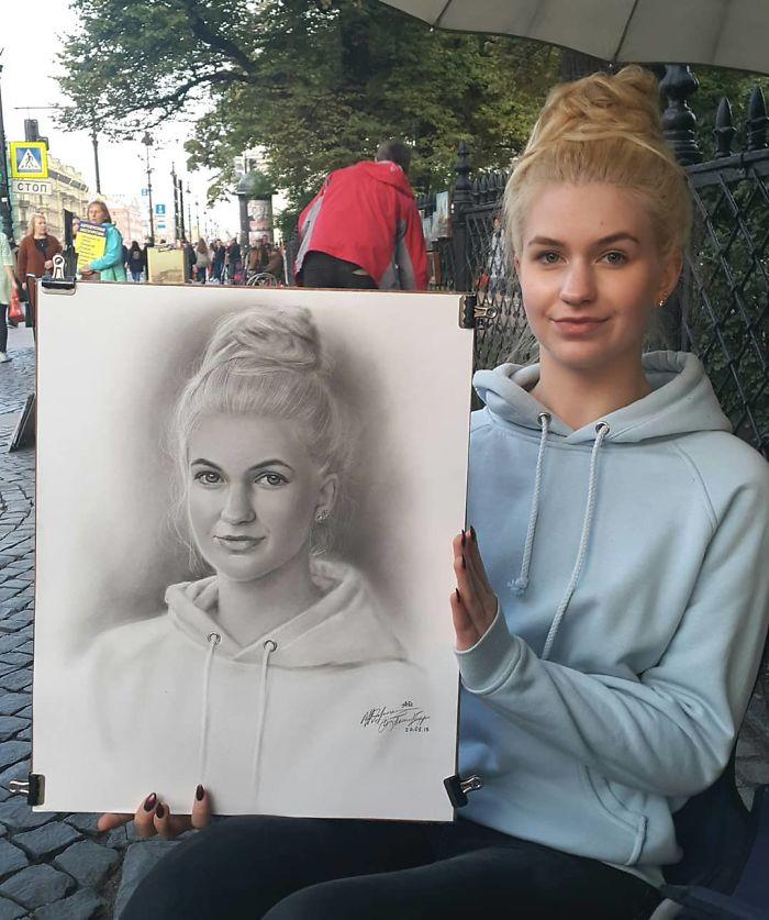 Retratos-artista de rua
