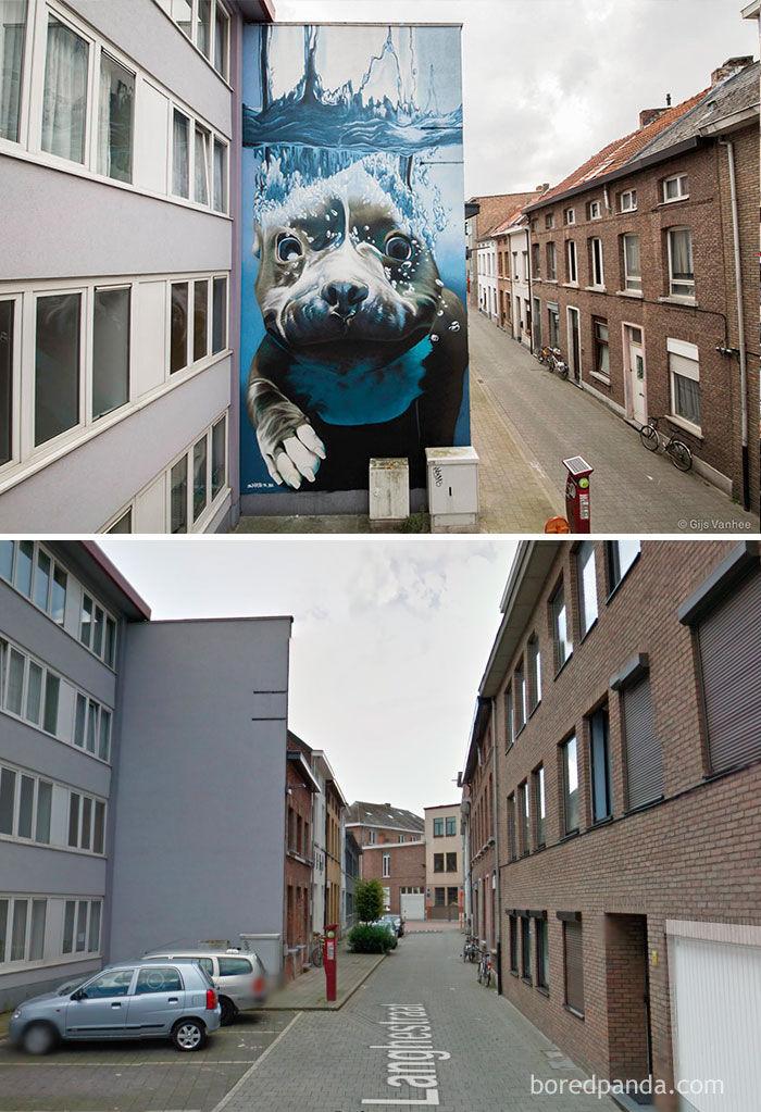 Arte de rua-antes e depois