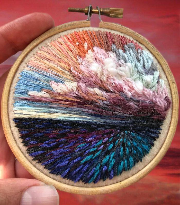 Pintura de agulha Vera Shimuna