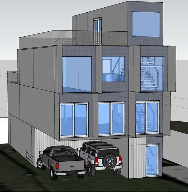 Uma casa de 11 containers