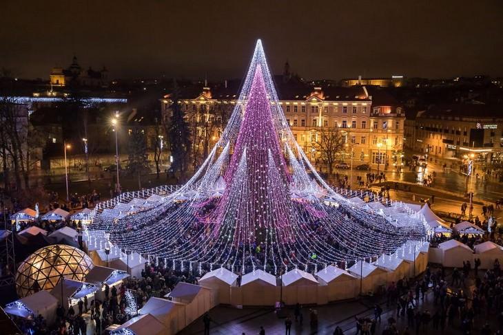 Belíssimas árvores de Natal Vilna