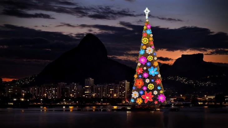 Belíssimas árvores de Natal Rio de Janeiro