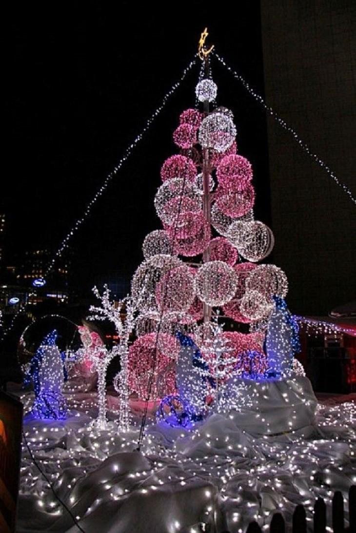 Belíssimas árvores de Natal Missouri EUA