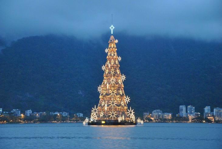 Belíssimas árvores de Natal México