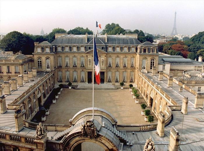 Residências oficiais de líderes mundiais Palácio  do Eliseu França