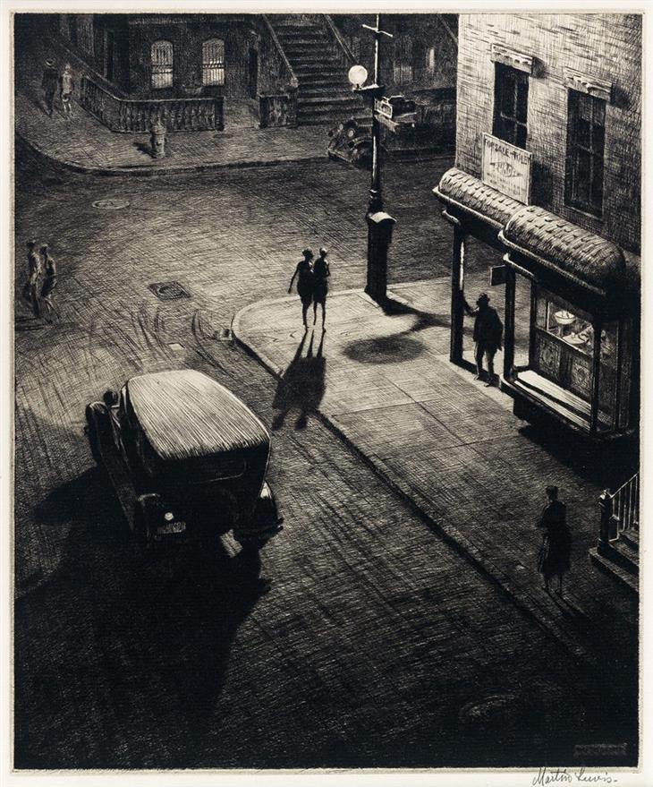Gravuras de Martin Lewis - Speakeasy Corner